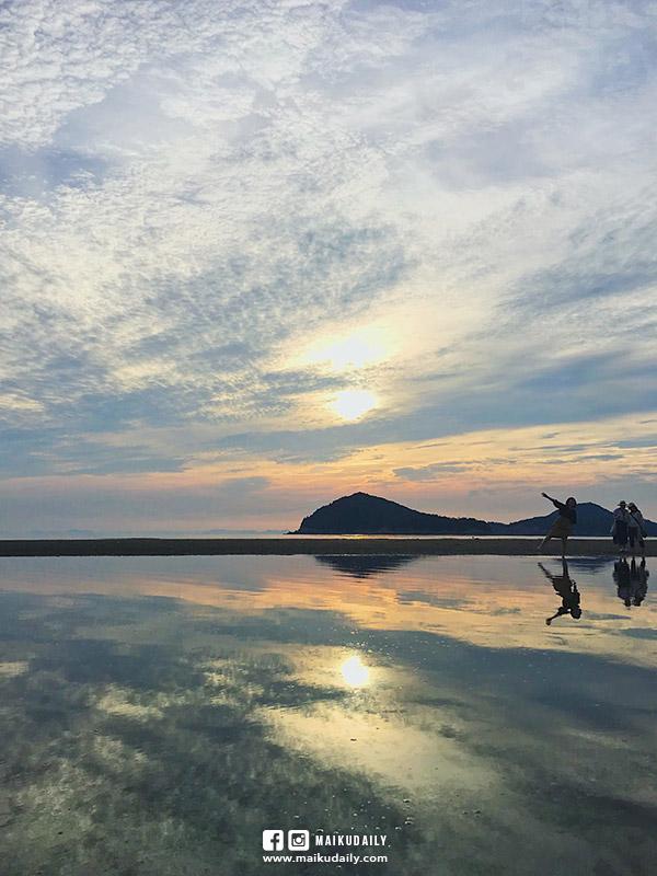 父母之濱 日本版天空之鏡 日落絕景 交通 香川縣 三豐市 父母ヶ浜
