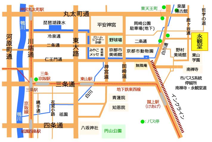 永觀堂 禪林寺 京都 紅葉 賞楓 夜楓 地圖
