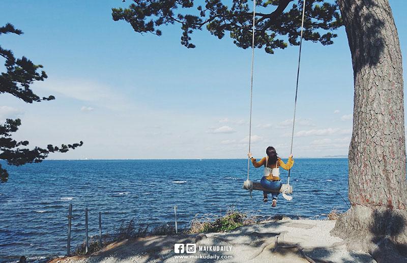 日間賀島No.1人氣景點 海蒂的鞦韆 ハイジのブランコ