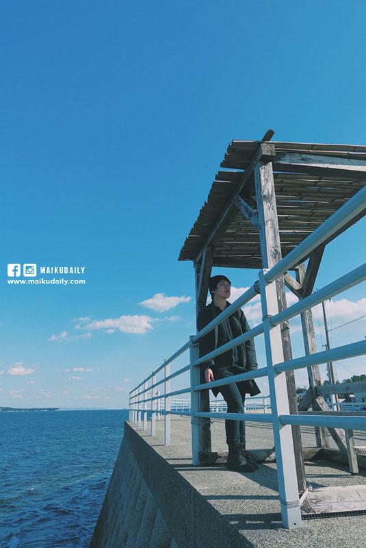 日間賀島海邊景色