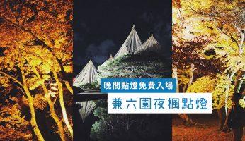 金澤 兼六園 賞 夜楓 晚間 點燈 紅葉