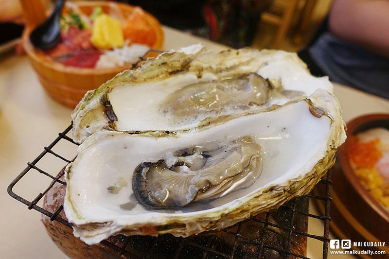 那珂湊魚市場 海花亭 牡蠣