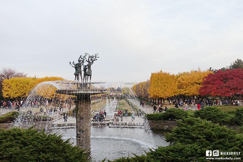 國營昭和紀念公園 銀杏 噴泉